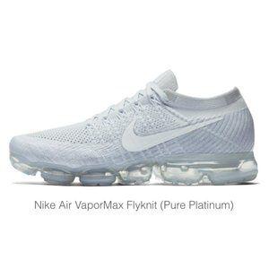 NIKE Grey Air Vapormax Flyknit Sneakers 5.5